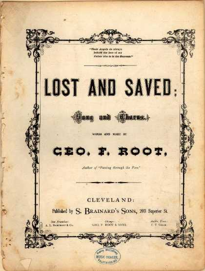 Sheet Music - Lost and saved