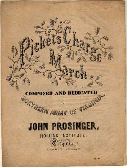 Sheet Music - Pickets charge march