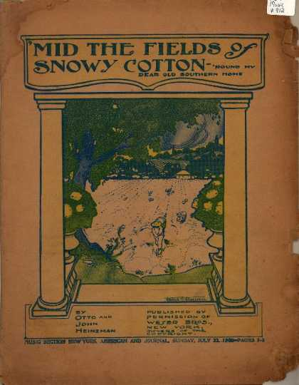 Sheet Music - 'Mid the fields of snowy cotton 'round my dear old Southern home
