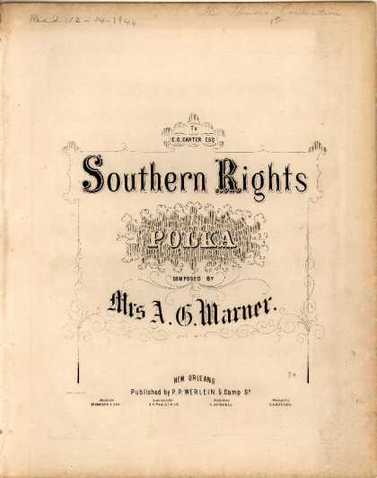Sheet Music - Southern rights polka