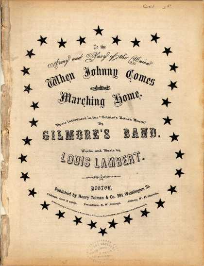 Sheet Music - When Johnny comes marching home; Soldier's Return March