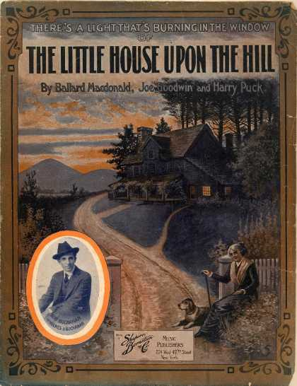 Sheet Music - There's a light that's burning in the window of the little house upon the hill