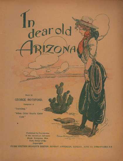 Sheet Music - In dear old Arizona