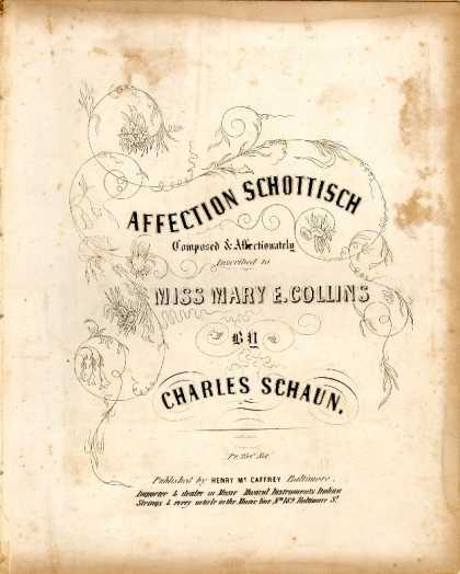 Sheet Music - Affection Schottisch