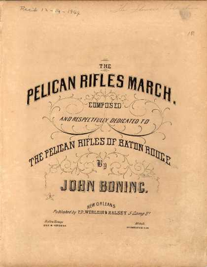 Sheet Music - Pelican Rifles march