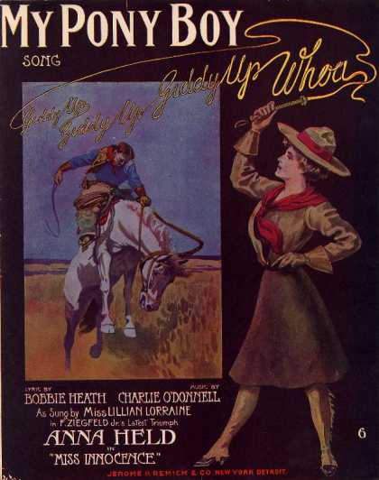 Sheet Music - My pony boy; Miss Innocence; Anna Held