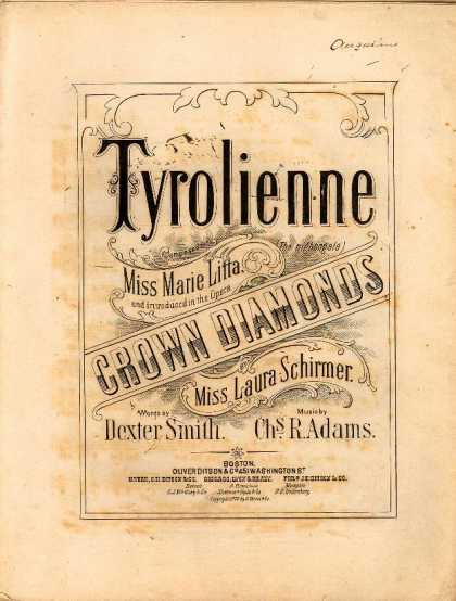 Sheet Music - Tyrolienne; The nightingale; Crown diamonds