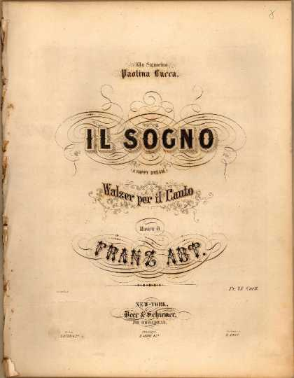 Sheet Music - Il sogno; A happy dream