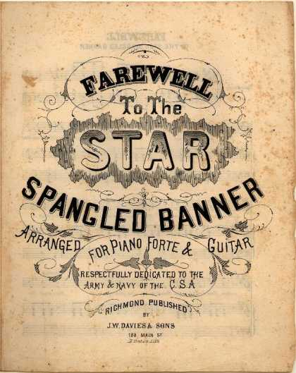 Sheet Music - Farewell to the star spangled banner