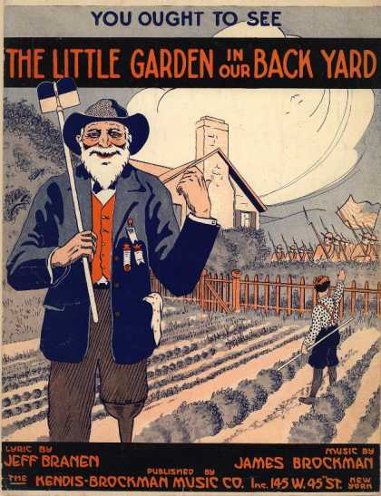 Sheet Music - You ought to see the little garden in our back yard; Little garden in our back y