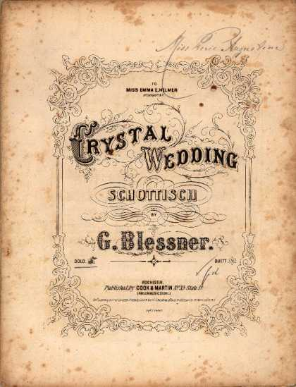 Sheet Music - Crystal wedding schottisch