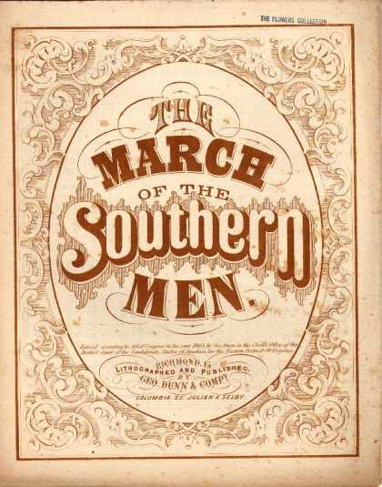 Sheet Music - The march of the Southern men; Old Scottish air