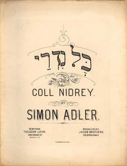 Sheet Music - Coll nidrey