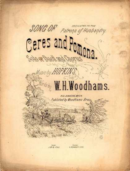 Sheet Music - Song of Ceres and Pomona