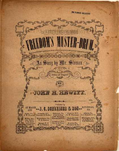 Sheet Music - Freedom's muster-drum