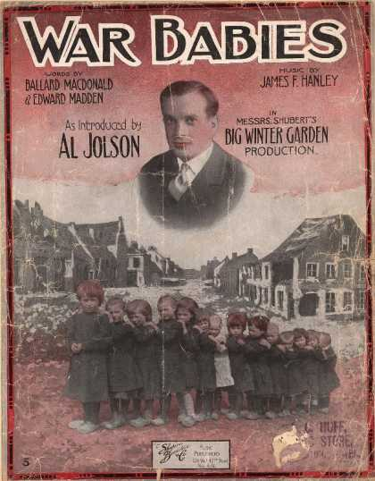 Sheet Music - War babies; Winter garden