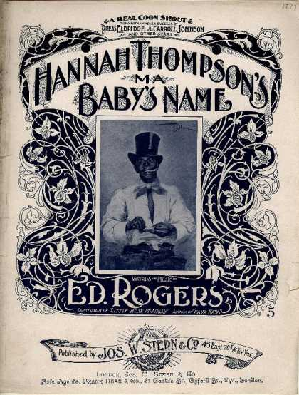 Sheet Music - Hannah Thompson's ma baby's name