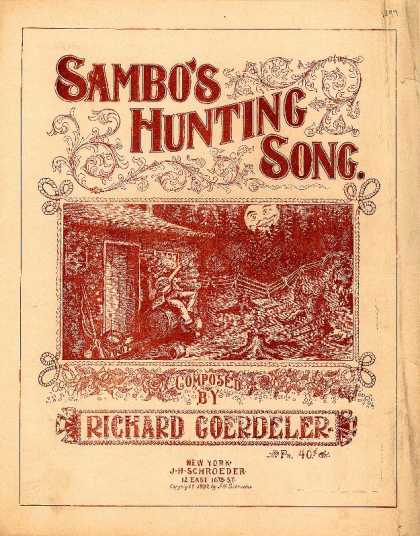 Sheet Music - Sambo's hunting song