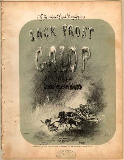 Sheet Music - Jack Frost galop