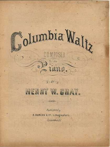 Sheet Music - Columbia waltz