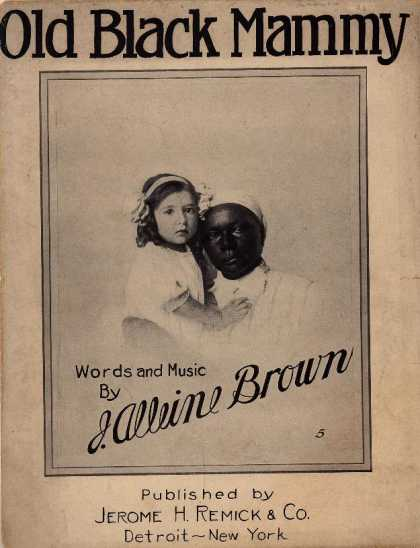 Sheet Music - Old black Mammy