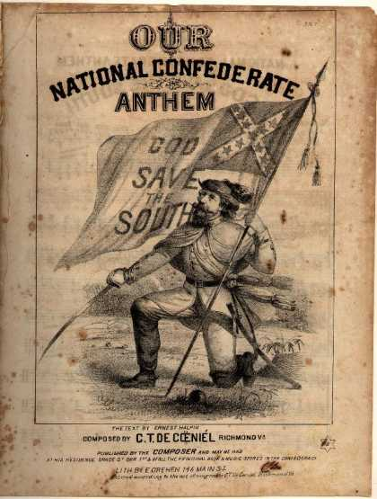 Sheet Music - God save the South; Our national Confederate anthem