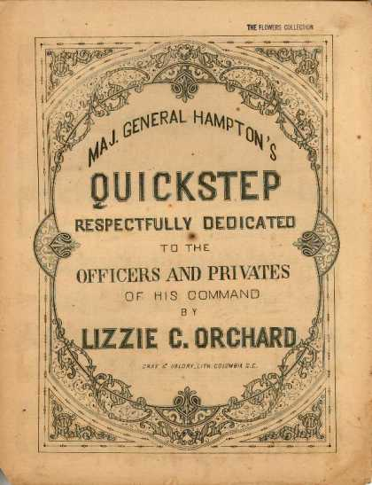 Sheet Music - Maj. General Hampton's quickstep