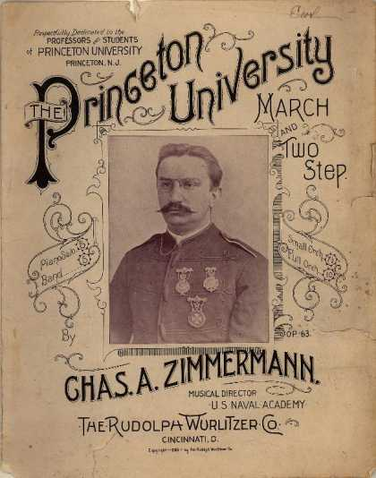 Sheet Music - Princeton University march and two step