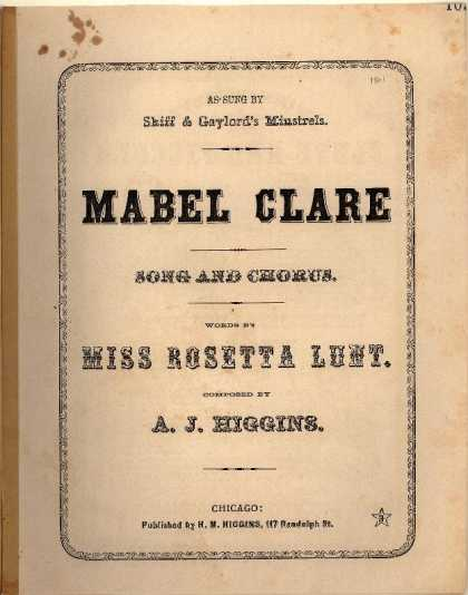 Sheet Music - Mabel Clare