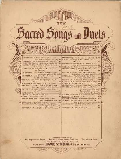 Sheet Music - The palms; Les rameaux