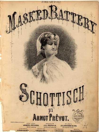 Sheet Music - Masked battery schottisch