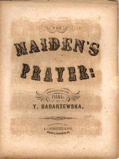 Sheet Music - The maiden's prayer
