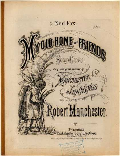 Sheet Music - My old home and friends