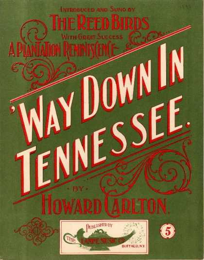 Sheet Music - 'Way down in Tennessee; Plantation reminiscence