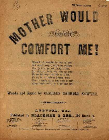 Sheet Music - Mother would comfort me!