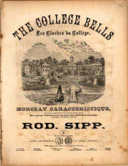 Sheet Music - The college bells; Les cloches du college; Morceau caracteristique