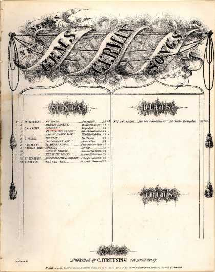 Sheet Music - Wiegenlied; Lullaby