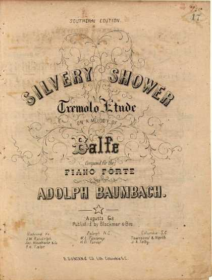 Sheet Music - Silvery shower; Tremolo etude on a melody of Balfe; Tremolo etude
