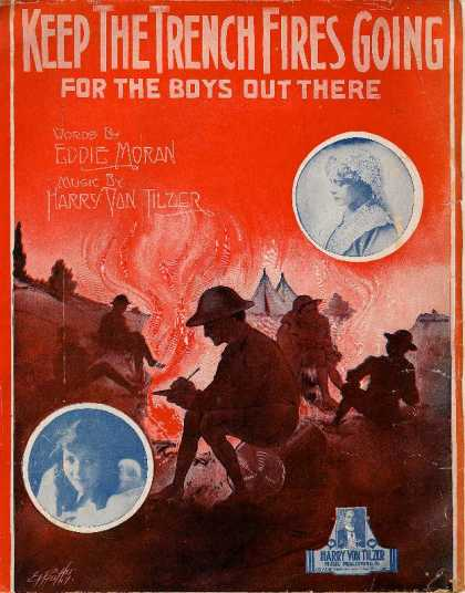 Sheet Music - Keep the trench fires going for the boys out there