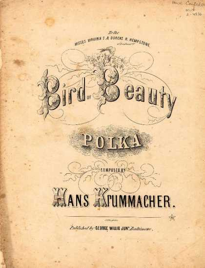 Sheet Music - Bird of beauty polka