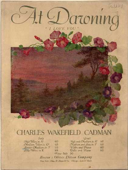 Sheet Music - At dawning; I love you; Op. 29, no. 1