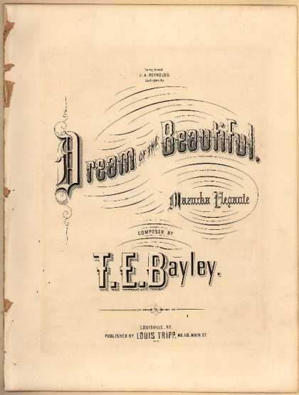 Sheet Music - Dream of the beautiful; Mazurka elegante