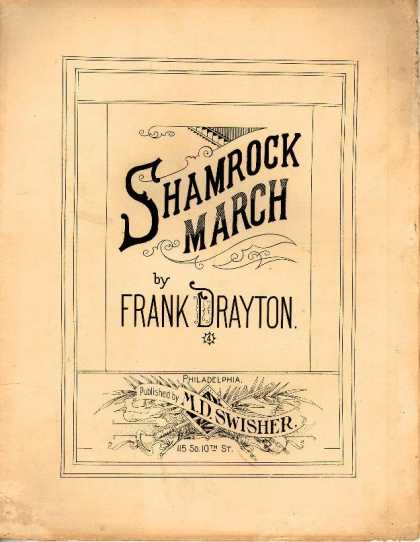 Sheet Music - Shamrock march; Irishman's toast