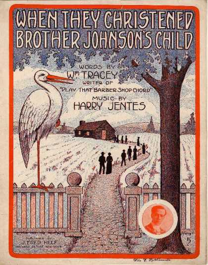Sheet Music - When they christened Brother Johnson's child