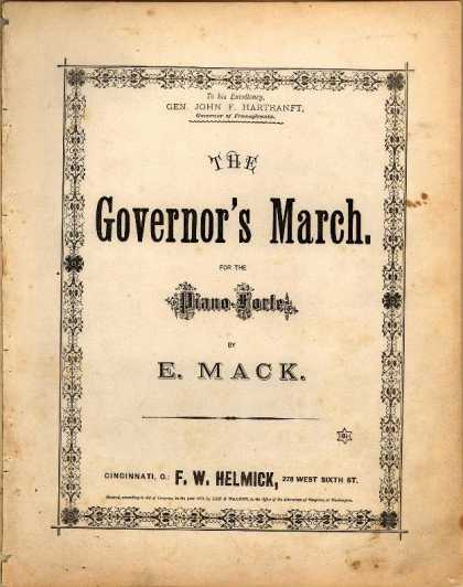 Sheet Music - The Governor's march