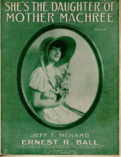 Sheet Music - She's the daughter of Mother Machree