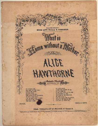 Sheet Music - What is home without a mother