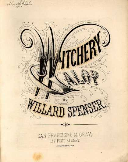 Sheet Music - Witchery galop