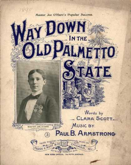 Sheet Music - Way down in the old palmetto state