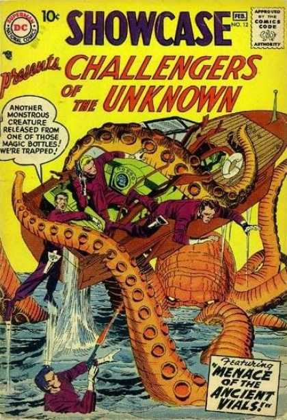 Showcase 12 - Giant Octupus - Boat - Water - Gun - Life Preserver - Jack Kirby